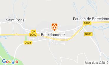 Map Barcelonnette Apartment 4866