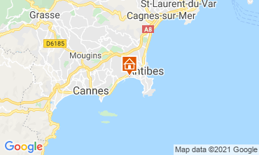 Map Juan les Pins Apartment 76269