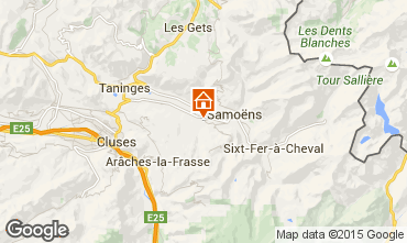Map Samoëns Apartment 2780
