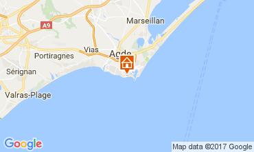 Map Cap d'Agde Apartment 6257