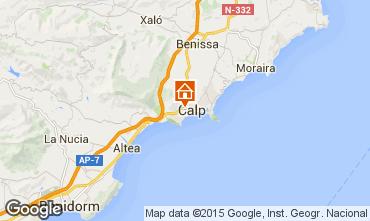 Map Calpe Bungalow 29412