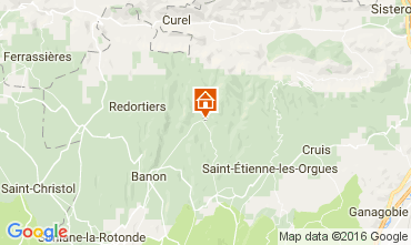 Map Forcalquier Vacation rental 106828