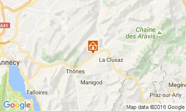 Map La Clusaz Vacation rental 106436