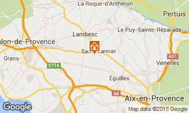Map Aix en Provence Villa 88796