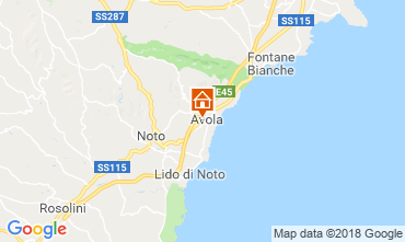 Map Avola Apartment 57459