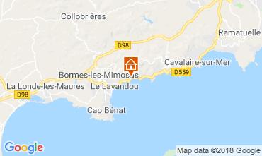 Map Le Lavandou Apartment 116591