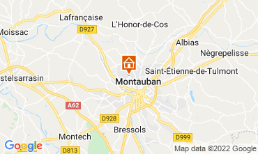 Map Montauban Vacation rental 73584