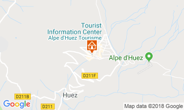 Map Alpe d'Huez One-room apartment 66809