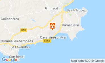 Map Saint Tropez Villa 118878