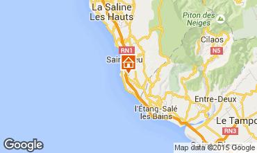 Map Saint Leu One-room apartment 9985