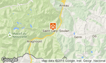 Map Saint Lary Soulan One-room apartment 4422