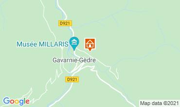 Map Gavarnie Gèdre Vacation rental 65880
