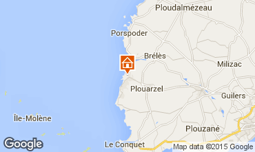 Map Lampaul-Plouarzel Vacation rental 75591