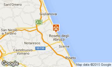 Map Roseto degli Abruzzi Apartment 48897