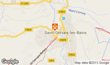 Map Saint Gervais Mont-Blanc Apartment 2553