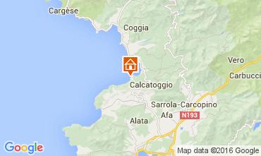 Map Ajaccio Villa 105031