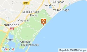 Map Saint Pierre la Mer Villa 116577