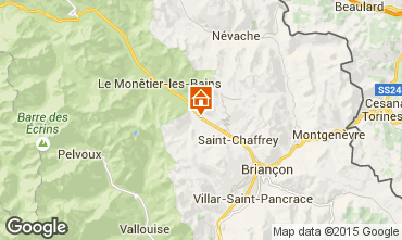 Map Serre Chevalier Apartment 3002