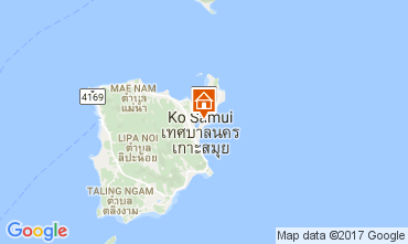 Map Bo Phut beach Villa 110496