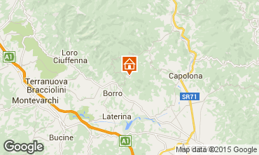 Map Arezzo Vacation rental 57056