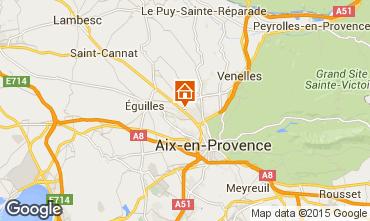 Map Aix en Provence Villa 58652