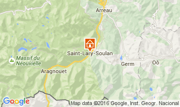 Map Saint Lary Soulan Apartment 72151