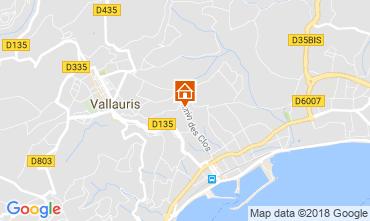 Map Golfe Juan Villa 113495