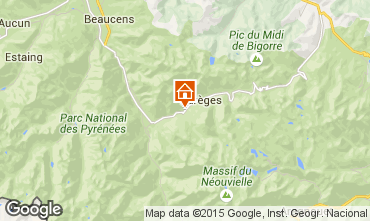 Map Barèges Vacation rental 80104