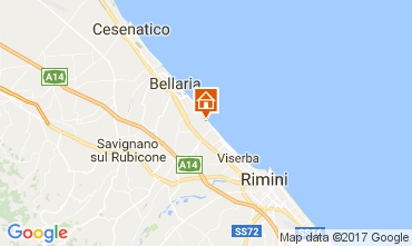 Map Bellaria Igea Marina Bed and breakfast 109717