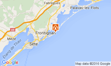 Map Frontignan Apartment 104867