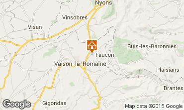 Map Vaison la Romaine Apartment 30217