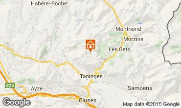 Map Praz de Lys Sommand Chalet 101067