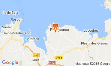 Map Plougasnou House 112881