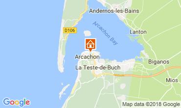 Map Arcachon One-room apartment 113927