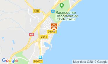 Map Villeneuve-Loubet Apartment 118861