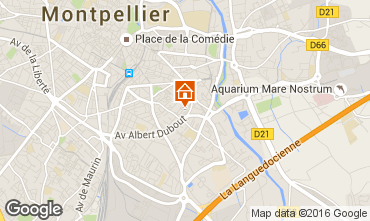 Map Montpellier One-room apartment 102338