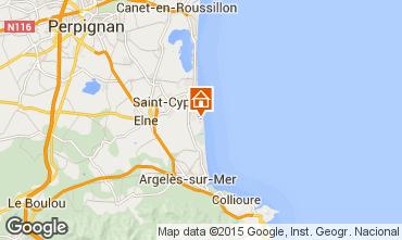 Map Saint Cyprien Plage One-room apartment 8722