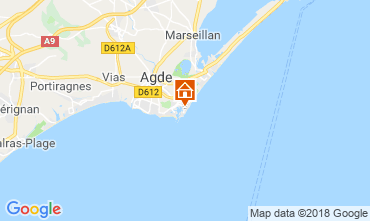 Map Cap d'Agde Apartment 55415