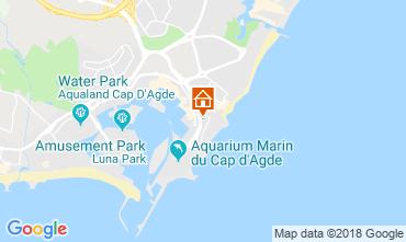 Map Cap d'Agde Apartment 55415
