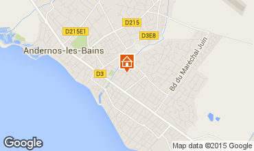 Map Andernos les Bains House 101207