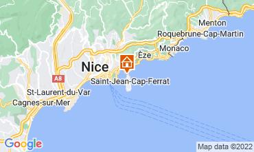 Map Beaulieu sur Mer Villa 113634