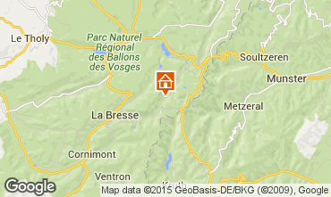 Map La Bresse Hohneck Chalet 4543