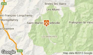 Map Les Menuires Apartment 2664