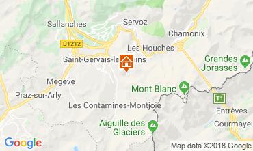 Map Saint-Gervais-les-Bains Vacation rental 117570