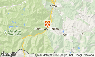 Map Saint Lary Soulan Apartment 19638