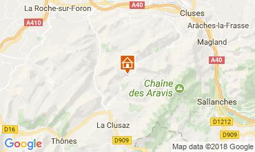 Map Le Grand Bornand Apartment 114978