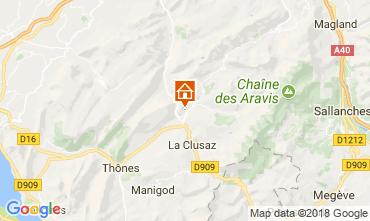 Map Le Grand Bornand Apartment 52301