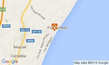 Map Taormina Apartment 74835