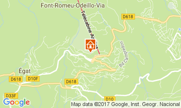 Map Font Romeu One-room apartment 34804