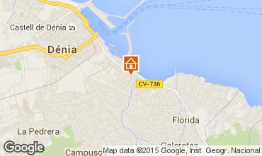 Map Denia Apartment 68366